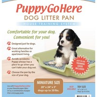 """Dog Litter Pan by PuppyGoHere Recycled Gray Color: 24"""" x 20"""" x 5"""" Great for Rabbits and Disabled Cats"""
