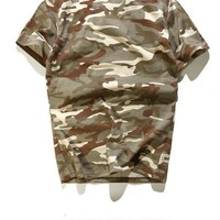 Camouflage Short Sleeve Summer Couple T-shirts [10176389191]