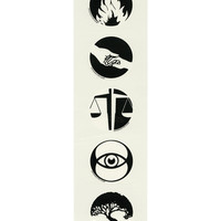 Divergent Faction Symbol Temporary Tattoo Pack