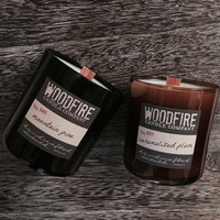 Sweater Weather Whiskey Glass Soy Wood Wick Candle