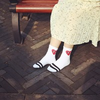Korean Stripes Lovely Cotton Socks [10597760775]