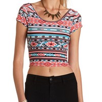 Twist Back Cotton Crop Top: Charlotte Russe
