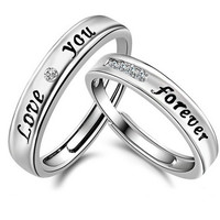 Adjustable Promise Statement Couple Rings