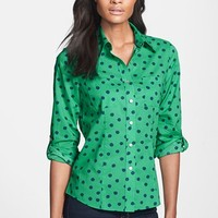 Foxcroft 'Sketched Dot' Print Cotton Shirt (Regular & Petite) | Nordstrom