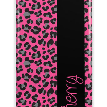 LEOPARD OR CHEETAH PRINT WITH RIBBON - PERSONALIZED IPHONE CASE