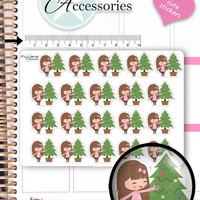 Christmas Tree Stickers Christmas Stickers Planner Stickers Cute Stickers Functional Stickers Decorative Stickers Kawaii Stickers NR1350