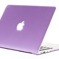 """Kuzy - AIR 13-inch Light PURPLE Rubberized Hard Case for MacBook Air 13.3"""" (A1466 & A1369) (NEWEST VERSION) Shell Cover - Light Purple"""