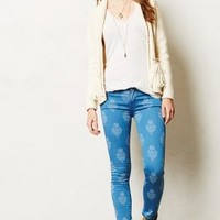 Mother Looker Printed Crop Jeans Yuma 29 Wall Decor