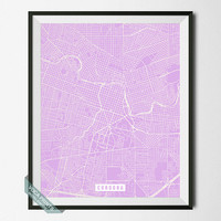 Cordoba Print, Spain Map Poster, Cordoba Street Map, Spain Print, Córdoba, Andalusia, Room Decor, Modern Print, Wall Art, Back To School