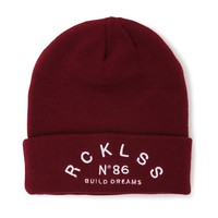 Young & Reckless Build Dreams Beanie - Womens Hat - Red - One