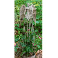 Metal Angel Garden Statue - Colorful Cast and Crew