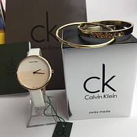 Calvin Klein Women Fashion Quartz Movement Watch Bracelet Set Two-Piece