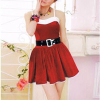 Christmas Spaghetti Strap Mini Skater Dress Set