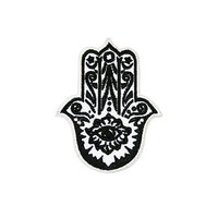 Hamsa Hand Iron On Patch Embroidery Sewing DIY Customise Denim Cotton