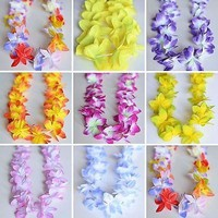 2 Premium Hawaiian Orchid Leis Necklace Various Colors! Wedding Beach Luau Party