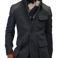 Nigel Cabourn Mallory Jacket Harris Tweed - CONTEXT CLOTHING - Free Shipping!