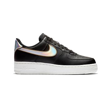 Nike Women's Air Force 1 '07 MTLC Metallic Swoosh Pack - Black