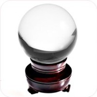Amlong Crystal Clear Crystal Ball 50mm (2 in.) Including Wooden Stand and Gift Box