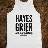 HAYES GRIER AND I ARE DATING (IN MY MIND) TANK TOP (IDC712227)