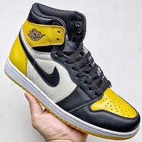 Trendsetter Nike Air Jordan Aj1 Women Men Fashion Casual High-Top Old Skool Shoes