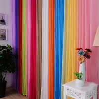 Super Deal 2016 Solid Color 200x100cm Ready Made Sheer Curtain Living Room Window Curtain XT