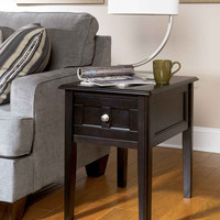 0-001589>Henning Chairside End Table Black