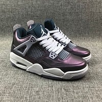 Nike Air Jordan-Jordan 4 Series AJ4 Chameleon Men's and Women's High Top Casual Sports Shoes Basketball Shoes