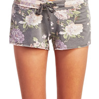 Dreamy Floral Print Lounge Shorts | Wet Seal