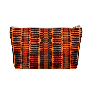 Kente Print Inspired Make up Pouch w T-bottom