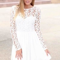 HOT LACE FLOWER CUTE DRESS