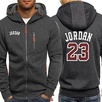Jordan 23 Print Hoodie Men Autumn Hot Sale Funny Mens Jackets Zipper Casual Hoodies Warm Sweatshirt Fashion Coat Male Streetwear