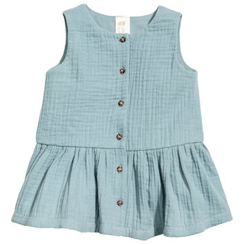 Cotton Double-weave Dress - from H&M