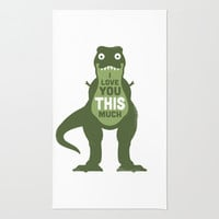Amourosaurus Rug by David Olenick | Society6