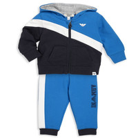 Baby Boys Blue and White Logo Tracksuit