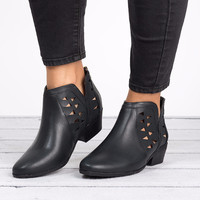 Cut Out Ankle Booties