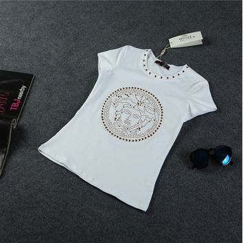 Versace Big Face Medusa Gianni Versace T Shirt