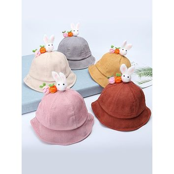 Female Baby Fisherman Hat Autumn Male 0-1 Year Old Version 2 Baby Girl Princess Cute Female Treasure Baby Hat Spring And Autumn Princess