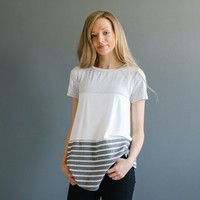 Stearns Knit Top - Grey | Called To Surf