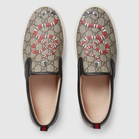 Gucci Man or Woman Fashion Embroidery Pattern Letter Casual Shoes