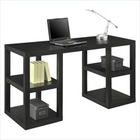 "SAVE Altra Furniture 60"" Deluxe Parsons Desk with Shelves for Home Office"