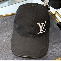 LV New fashion embroidery letter couple cap hat Black