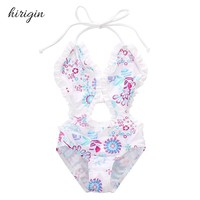 HIRIGIN Brand Cotton Blend Floral Toddler Kids Girls Split Bikini Swimwear Bathing Suit Swimsuit 1-6T