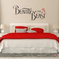 Wall Decal Vinyl Sticker Beauty And The Beast Children Teenager Adult Wall Sticker Wall Art Funny Decal Removable Poster WW-305