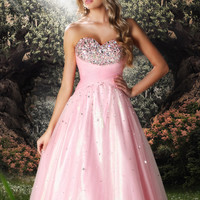 Trendy Sweetheart Beaded Bust Ball Gown Disney Forever Enchanted 35539