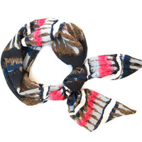 Abstract Hair Scarf Purse Scarf Hair Wrap Neck Bow Hair Bow Navy Blue Light Blue Pink White Women Teen Scarves Cute Gift Ready To Ship