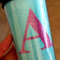 Glitter Travel Mug with Initial