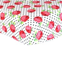 Fitted Crib Sheets | Rose Dots