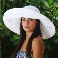 Go Lightly | Ribbon/ Straw Combination Sun Hat by Physician Endorsed | SolEscapes.com