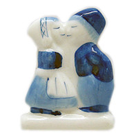 Delft Blue Magnet Dutch Kiss Kitchen Magnet