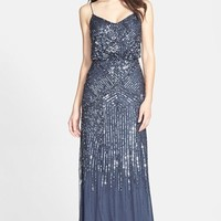 Women's Adrianna Papell Beaded Blouson Gown